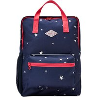 Little Joule Children's Star Print Square Backpack, Navy/Red