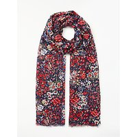 Collection WEEKEND by John Lewis Multi Floral Print Scarf, Navy/Multi