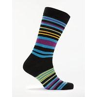 Ted Baker Stripe Socks, Black/Multi