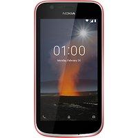 Nokia 1 Smartphone, Android, 4.5, 4G LTE, SIM Free, 16GB