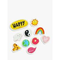 Happy News Eraser Set, Pack of 11