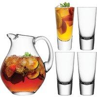 LSA International Bar 2.8L Punch Jug and 4 Highball Glasses Set, Clear