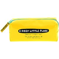 Happy News Pencil Case, Yellow