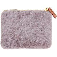 Caroline Gardner Faux Fur Purse, Grey