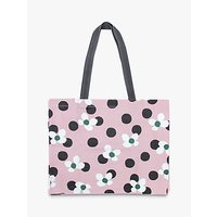 Caroline Gardner Canvas Tote Bag, Petal Pink