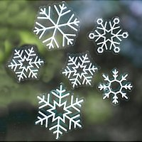 Ginger Ray Snowflake Window Stickers