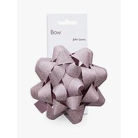 John Lewis Glitter Bow, Pastel Pink