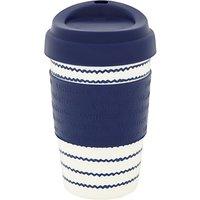 Waitrose Nautical Reusable Plastic Coffee Cup, 355ml, Blue