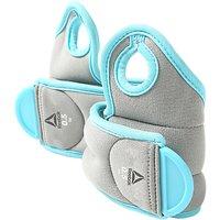 Reebok Training 2x0.5kg Wrist Weights, Grey/Blue