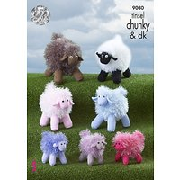 King Cole Super Chunky Tinsel Sheep Knitting Pattern, 9080