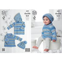 King Cole Baby Drifter Double Knit Knitting Pattern, 4309