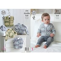 King Cole Baby Drifter Double Knit Knitting Pattern, 4798