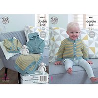 King Cole Comfort DK Baby Cardigan And Blanket Knitting Pattern, 4967