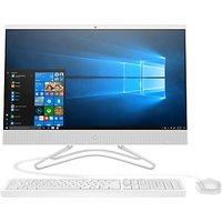 HP 24-f0019na All-in-One Desktop PC, Intel Pentium Silver, 8GB RAM, 2TB HDD, 23.8 Full HD, Snow White