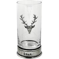 English Pewter Company Single Stag Highball Spirit Glass, Crystal, 12oz