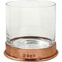 English Pewter Company Tumbler with Copper Hammered Base, Crystal, 13.5oz