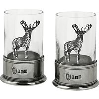 English Pewter Company Crystal Stag Shot Glasses, Set of 2