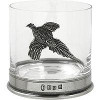 English Pewter Company Pheasant Tumbler, Crystal, 13.5oz