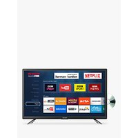Sharp LC-24DHG6131KF LED HD Ready 720p Smart TV/DVD Combi, 24 with Freeview HD/Freeview Play, Miracast & Harman/Kardon Sound, Black