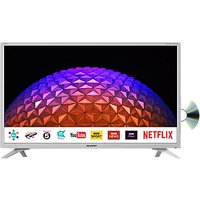 Sharp LC-32DI5232KFW LED HD Ready 720p Smart TV/DVD Combi, 32 with Freeview HD/Freeview Play, Miracast & Harman/Kardon Sound, White