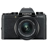 Fujifilm X-T100 Compact System Camera with 15-45mm XC Lens, 4K Ultra HD, 24.2MP, Wi-Fi, Bluetooth, E