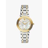 Versace V16060017 Women's Daphnis Mother of Pearl Bracelet Strap Watch, Silver/Gold