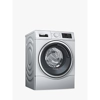 Bosch WDU28568GB Freestanding Washer Dryer, 10kg Wash/6kg Dry Load, A Energy Rating, 1400rpm Spin, Stainless Steel
