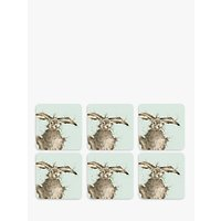 Royal Worcester Wrendale Hare Coasters, Set of 6