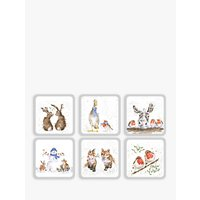 Royal Worcester Wrendale Christmas Coasters, Set of 6