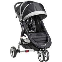 Baby Jogger City Mini 3 Wheel Pushchair, Black/Grey