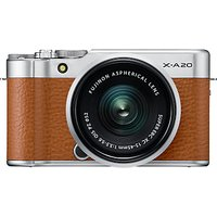 "Fujifilm X-A20 Compact System Camera with XC 15-45mm OIS Lens, HD 1080p, 16.3MP, Wi-Fi, 3"" Tiltable LCD Touch Screen"