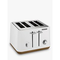 Buy Morphy Richards Aspect 4-Slice Toaster, White - John Lewis & Partners