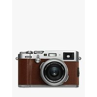 Fujifilm X100F Digital Compact Camera with 23mm Lens, 1080p Full HD, 24.3MP, Wi-Fi, Hybrid EVF/OVF, 3 LCD Screen, Brown