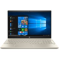 "HP Pavilion 15-cs0998na Laptop, Intel Core i3, 8GB RAM, 128GB SSD, 15.6"", Gold/White"