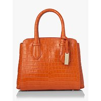 L.K.Bennett Cassandra Leather Tote Bag, Tangerine