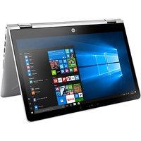 "HP Pavilion x360 14-ba000na Convertible Laptop, Intel Pentium, 4GB RAM, 128GB SSD, 14"", Silver"