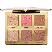 Too Faced Natural Face Highlight, Blush And Bronzing Veil Face Palette, Multi