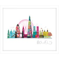 Ilona Drew - London Skyline Framed Print, 27.5 x 33.5cm