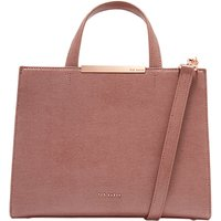 Ted Baker Madalyn Leather Tote Bag, Mid Pink