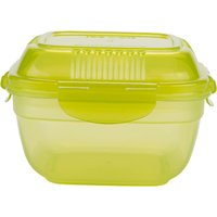 Joe Wicks Airtight Salad Lunch Box, Green/Clear, 950ml