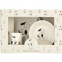 Jellycat Bashful Puppy Plate and Bowl Set