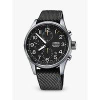Oris Big Crown Pro Pilot 774 7699 4134-0752 Men's Textile Strap Watch, Olive
