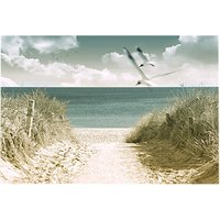 Brookpace Beach View Glass Art Print, 70 x 100cm