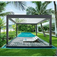 Lanai Iris Louvered Roof Canopy