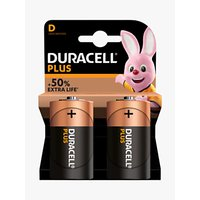 DURACELL Plus Power 1.5V Alkaline D Batteries, Pack of 2