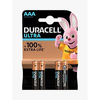 DURACELL Ultra Power 1.5V Alkaline AAA Batteries, Pack of 4