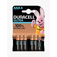 DURACELL Ultra Power 1.5V Alkaline AAA Batteries, Pack of 6