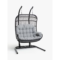 John Lewis and Partners Cabana Double Hanging Pod Garden Chair
