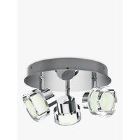 Philips Resort LED 3 Arm Bathroom Ceiling Light, Chrome