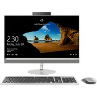 "Lenovo 520 All-in-One Desktop PC, Intel Core i5, 8GB RAM, 1TB HDD + 16GB Intel Optane Memory, 23.8"" Full HD, Silver"